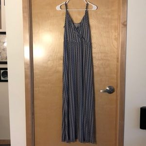 Blue and White Gap Maxi Dress